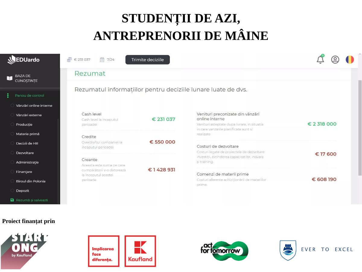 """Prima activitate a proiectului """"Studenții de azi, antreprenorii de mâine"""" s-a finalizat cu succes!"""